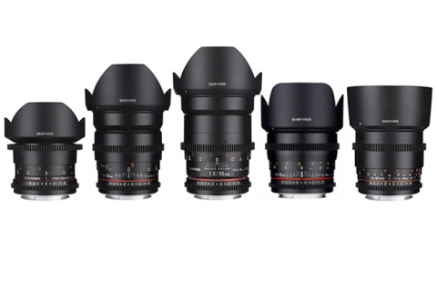 Pack Samyang V-DSLR (14, 24, 35, 50, 85mm) EF